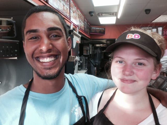 Employees at Dunkin' Donuts in Mount Kisco were busy on Friday, National Donut Day.