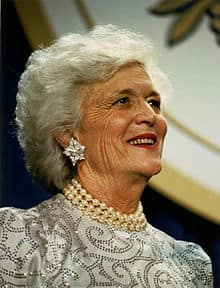 Barbara Pierce Bush turns 89 on Sunday.