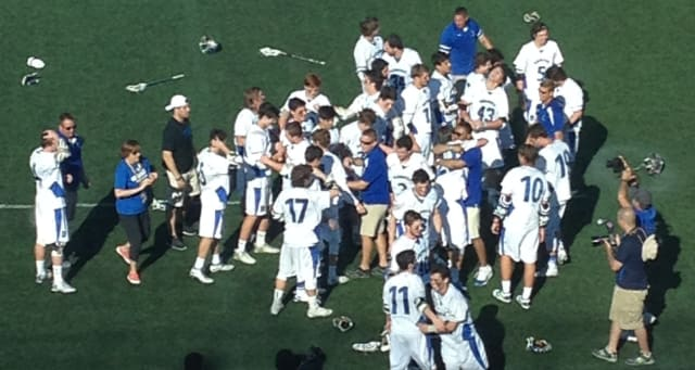 Bronxville defeated Cazenovia 13-10 in a rematch of last year's title game to win its first-ever New York state championship in a game played at Hofstra University