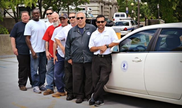 Some of the Yonkers employees who are participating in the city's pilot EcoDriving Training Program.