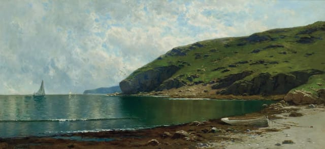 """Coastal Scene"" by Alfred Thomas Bricher."