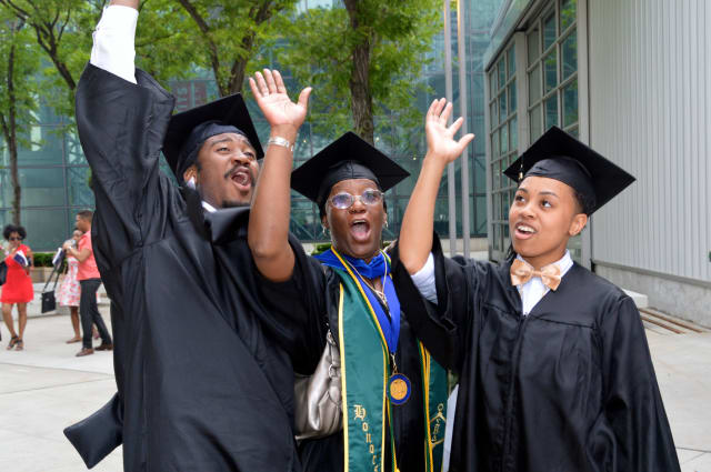 A mother, a son and granddaughter all graduated from Monroe College on Sunday, June 8.