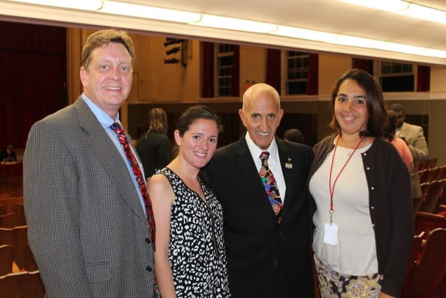 Joseph Ricca honored the four 2014 Elmsford Teachers of the Year on Wednesday. (Not Pictured: Carrie Silva)