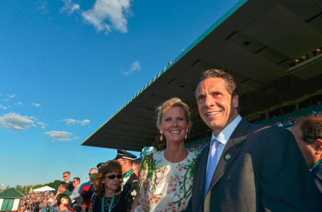 Sandra Lee was with Gov. Andrew Cuomo at the 2014 Belmont Stakes.