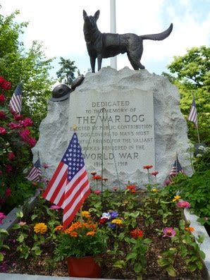 The War Dogs Monument at the Hartsdale Pet Cemetery.