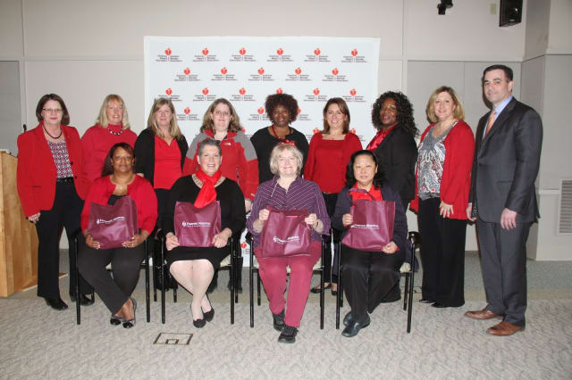 "The 11 women selected for the ""BetterU Challenge"" at Stamford Hospital. See story for identifications."