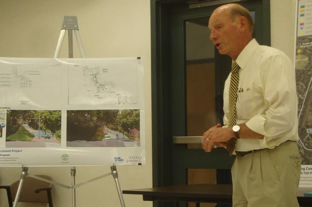 Paul Schmidt of CDM Smith discusses planned enhancements to make South Norwalk more pedestrian and cyclist friendly and improve access to the train station.