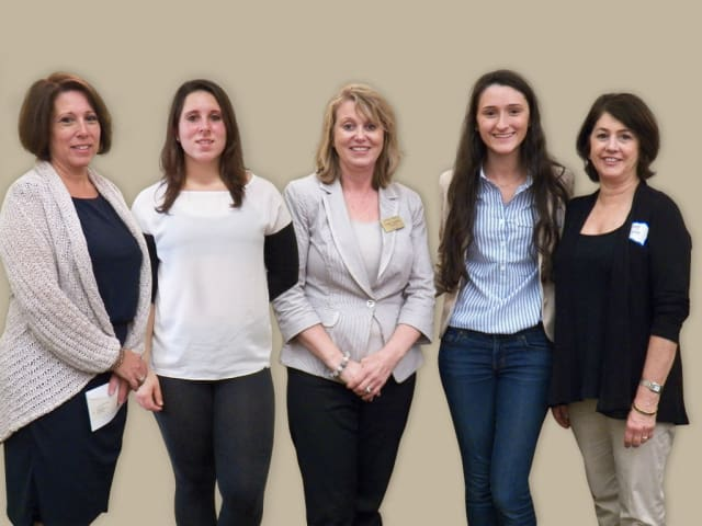 Left to right are Debra Rende-Cavaliere and her daughter, Danielle Cavaliere, Stamford Board of Realtors President, Thaddea Sheridan, Zoe Eliades and her Realtor mom, Diane Eliades.