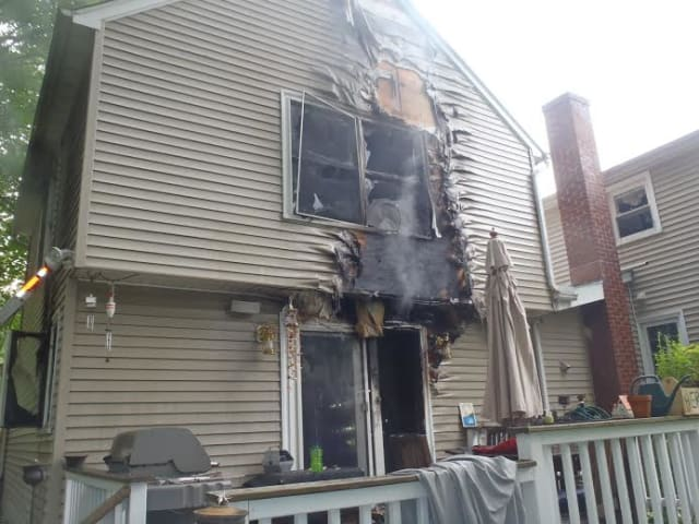 Two floors of the home on Vani Court in Westport were damaged by the fire.