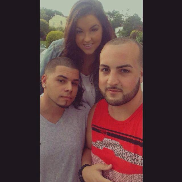 Chris Ruiz (left) and Victor Hummel (with their friend, Alyssa) are happy to be back in New Rochelle for the summer.