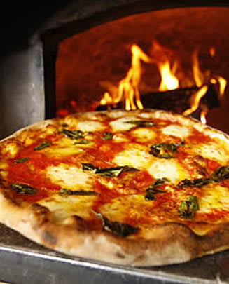 The pizza oven at ReNapoli Pizzeria in Old Greenwich