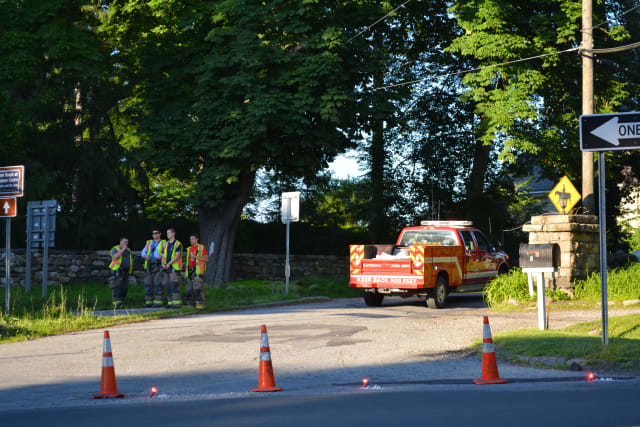 Emergency crews responded to the accident at Girdle Ridge Road and Route 22 in Katonah.