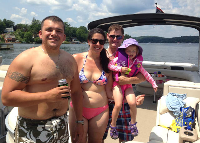 Richard Hall and friends shown boating on Lake Mahopac on Sunday, June 29.