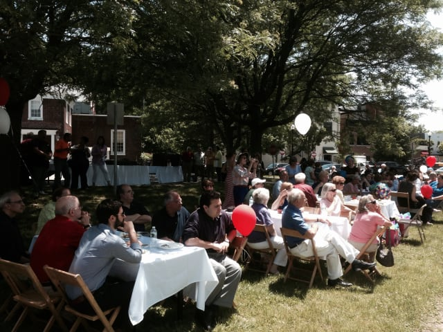 A lunch was held on June 20 in honor of James Palmer.