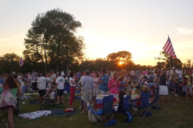 New Canaan's Family Fourth fireworks at Waveny Park have been rescheduled for Saturday.