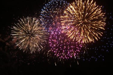 The town of Fairfield has delayed its fireworks show to Saturday.