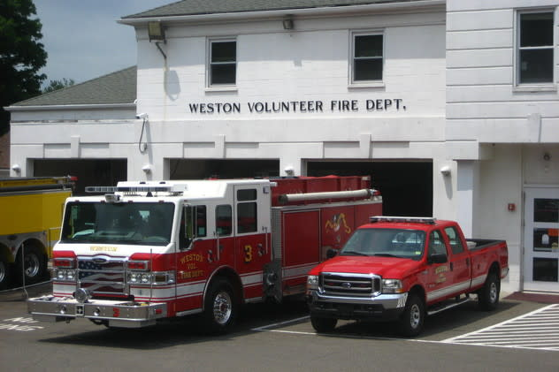 The Weston Volunteer Fire Department battled a barn blaze at 208 Georgetown Road late Wednesday.