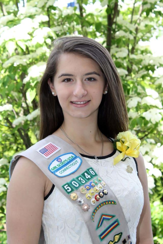 Eliana Betzios of Greenwich earned her Girl Scout Gold Award
