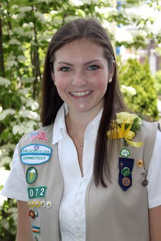 Colleen Stimola of Redding helped to lift the spirits of patients in the Pediatric Department at Norwalk Hospital to earn her Girl Scout Gold Award.