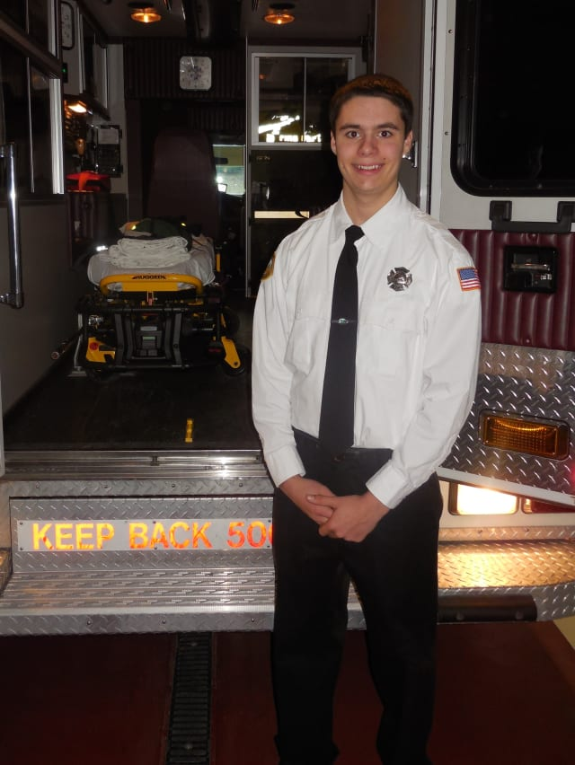 Michael Gagliardi received Firemen's Association of the State of New York Gerard J. Buckenmeyer Volunteer Scholarship.