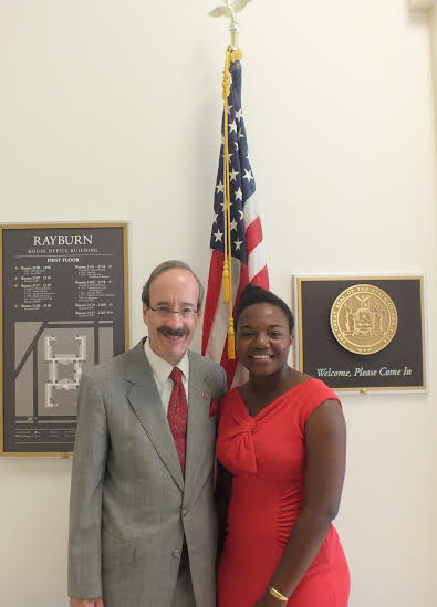 Akunna Faith Uka met with Rep. Eliot Engel in Washington, D.C.