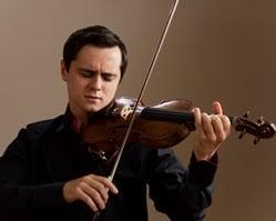 Young Ukrainian violinist Aleksey Semenenko will perform on Saturday, Oct. 18.