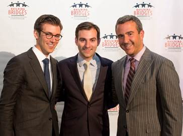 Jeremy Leventhal, left, a 2014 Rising Star, stands with his brother Alex Leventhal, center, a 2013 Rising Star and fellow managing partner, and 2014 Rising Star recipient Joshua Caspi.