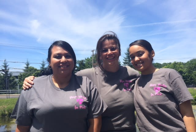 Greenburgh's Holly Cancro is joining her friends Carmen Carbreja of Sleepy Hollow and Carolina Patrocinio of New Windsor, Conn. for the Avon Walk for Cancer set for October 18-19.