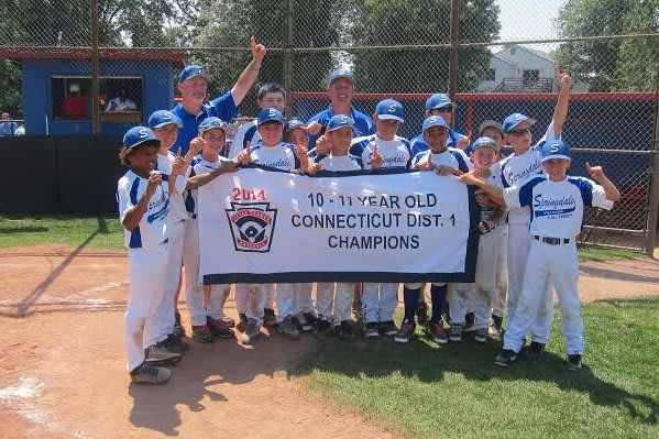 The Springdale 10- and 11-year-old baseball All-Stars from Stamford won the District 1 title on Saturday.