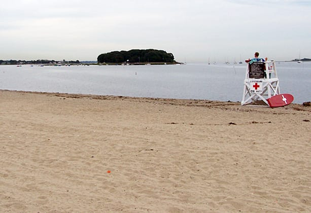Swimmers are not allowed in the water Tuesdsay at Nowalk's beaches.