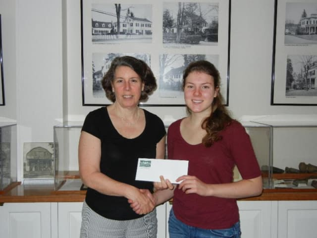 Fox Lane Senior Emma Duggan earns scholarship from Bedford Historical Society.