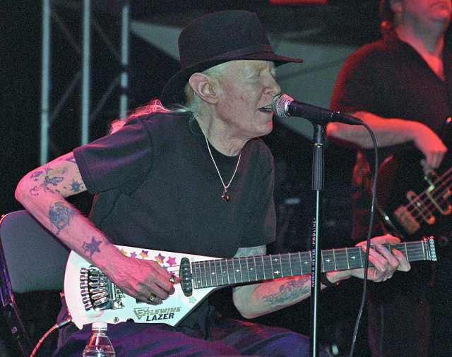 Blues icon Johnny Winter, who lived in Easton, was found dead in a Zurich hotel on Thursday.