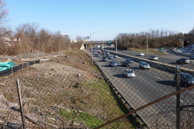 The Route 7 interchange with Interstate 95 is under construction in Norwalk.