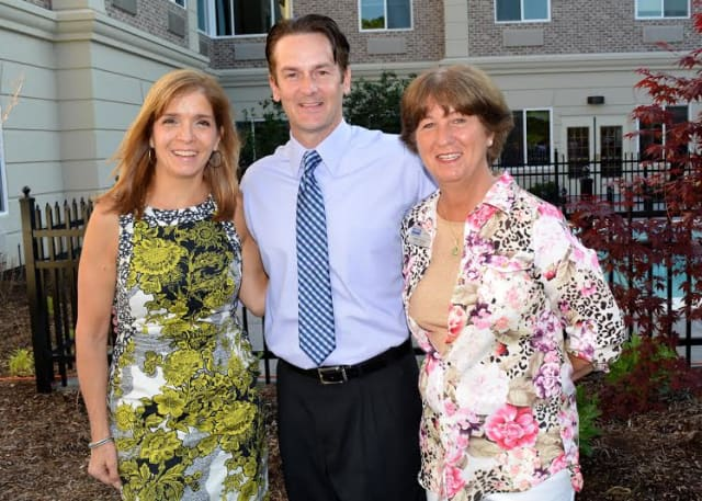 From left, Aurora Banaszek, associate broker of the Armonk office of Houlihan Lawrence; C. Dean Brown, director of Business Development, The Bristal Assisted Living Communities and Cindy Gale, associate broker of the Bedford office Coldwell Banker.