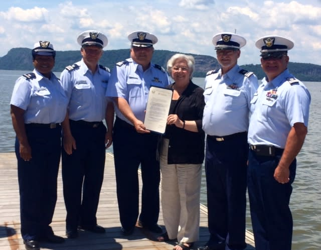 Assemblywoman Sandy Galef presented members of the Coast Guard Auxiliary with a special proclamation.
