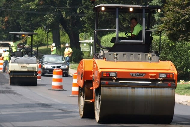 Mamaroneck Road will be reduced to one lane for paving until Friday, July 25.