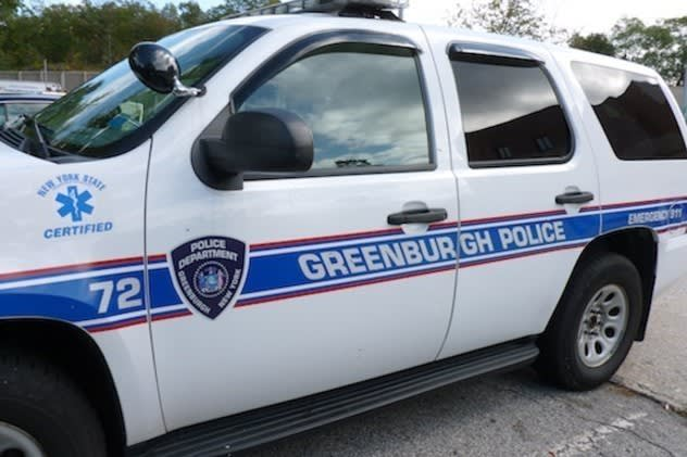 Greenburgh Police seek a man who allegedly robbed a cabbie at gunpoint.