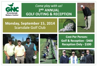 Greenburgh Nature Center will host its second annual golf outing and reception on Monday, Sept. 15.