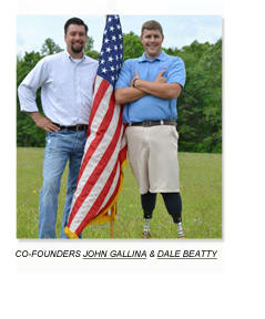 John Gallina and Dale Beatty are veterans and co-founders of Purple Heart Homes Association.