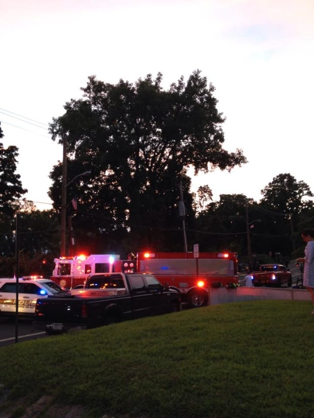 The scene of the fatal accident at 87 N. Riverside Ave. in Croton-on-Hudson Thursday night, July 24.