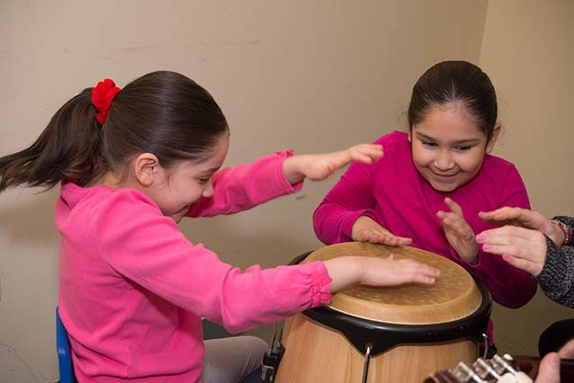 Children playing in the Music Therapy Institute of the Music Conservatory of Westchester.