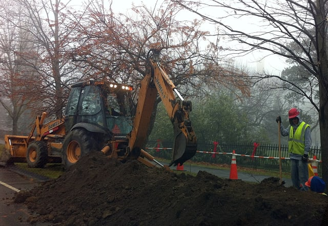 Construction will begin this week to install pipeline for expanded Yankee Gas service in Wilton. The construction work will be similar to the work done in Ridgefield, above.