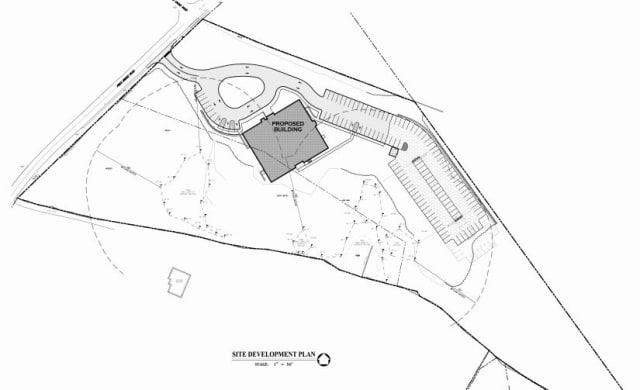 A screen shot of the site plan for the Upper Westchester Muslim Society's proposed mosque, which is part of the applicant's submission to the town.