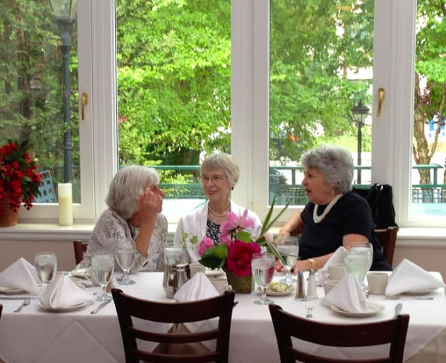 Jansen Hospice volunteers were recently honored at a special summer luncheon held at The Old Stone Mill in Tuckahoe. Shown, from left, are Lucille Piro, Carol McAvoy and Marlene Rego.