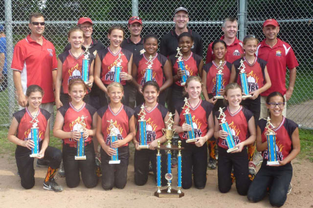 The Fairfield Fury softball team won the Fairfield County Fastpitch Softball League B Division championship. See story for team IDs.