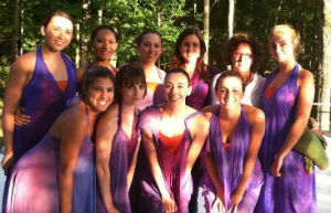 Dancers from Manhattanville College performed at Inside/Out Stage at the Jacob's Pillow Dance Festival.