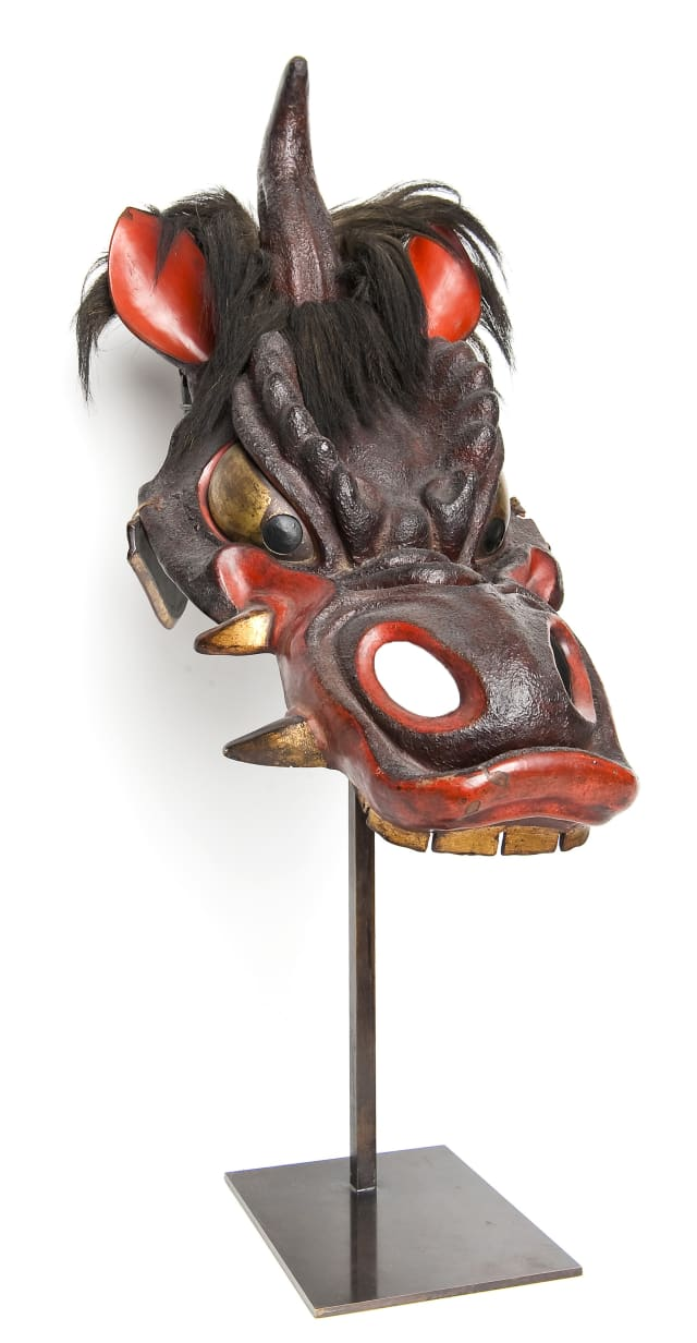 Samurai face masks, armor, swords and other artifacts will be on display at the Katonah Museum of Art.