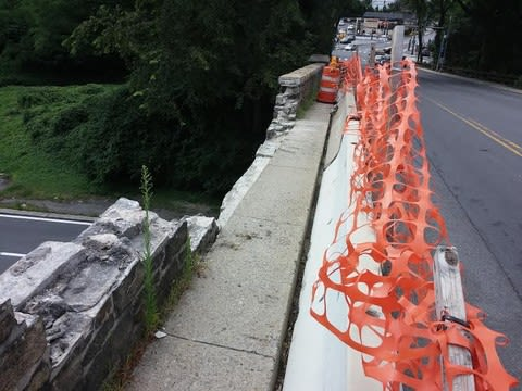 Repairs on the Odell Avenue Bridge have been suspended.