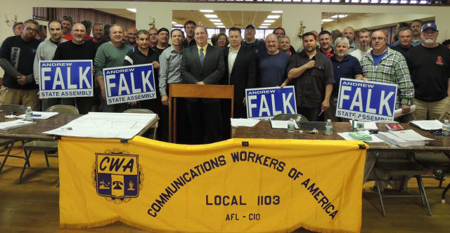 Andrew Falk is being endorsed by Communications Workers of America in the 94th Assembly District race.