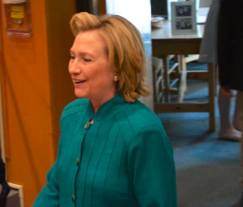 Hillary Clinton recently spoke at the graduation ceremony for the Chappaqua Summer Scholarship Program.